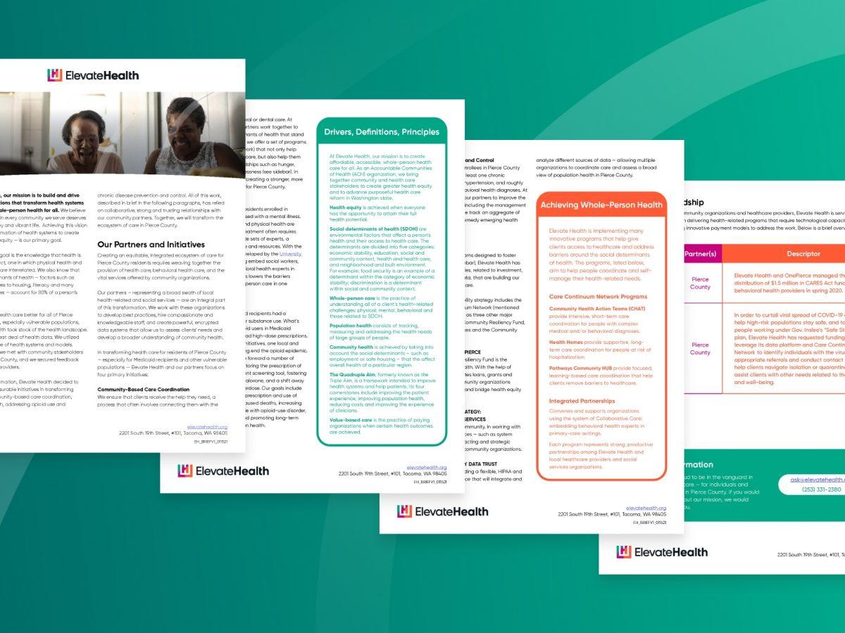 Elevate health brief cover